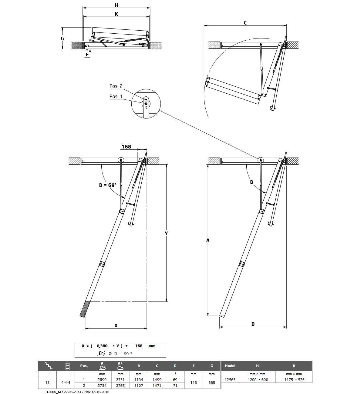 Tavanske ljestve Dolle loft CF36G