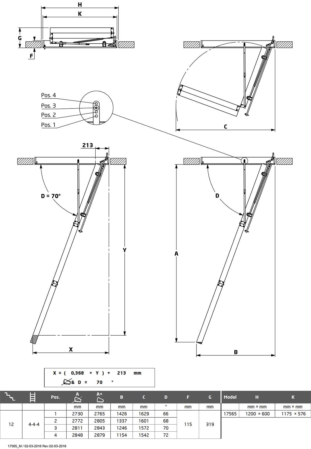 Tavanske ljestve Dolle loft SP16-5